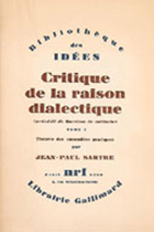 Critique de la raison dialectique by Jean-Paul Sartre book cover