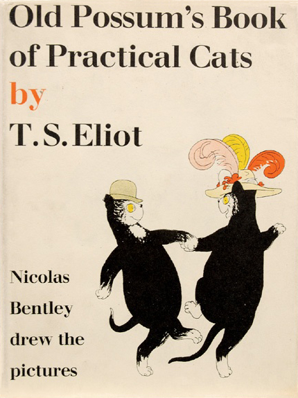 1940 T.S. Eliot, Old Possum's Book of Practical Cats, illustrated by Nicolas Bentley