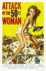 The Attack of the 50 Foot Woman movie poster