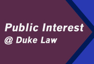 Public Interest at Duke Law