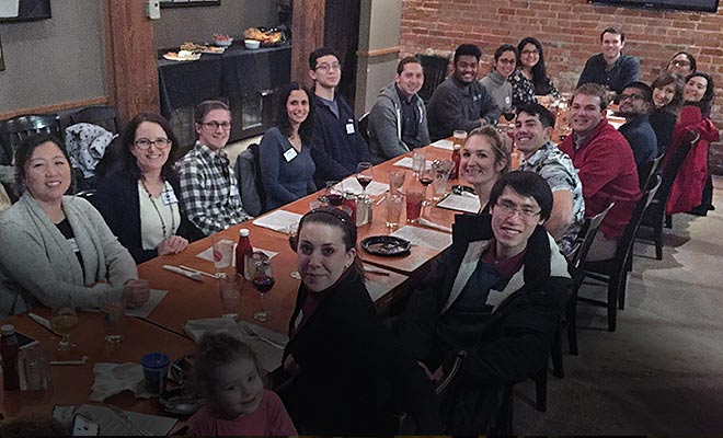 Participants from the 2018 1GP Kickoff Dinner