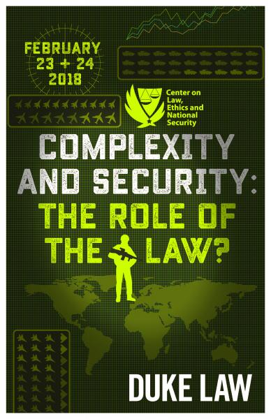 Complexity and Security: The Role of Law? poster image