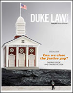 Cover of Duke Law Magazine, Spring 2015
