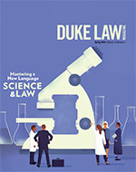 Cover of Duke Law Magazine, Spring 2016