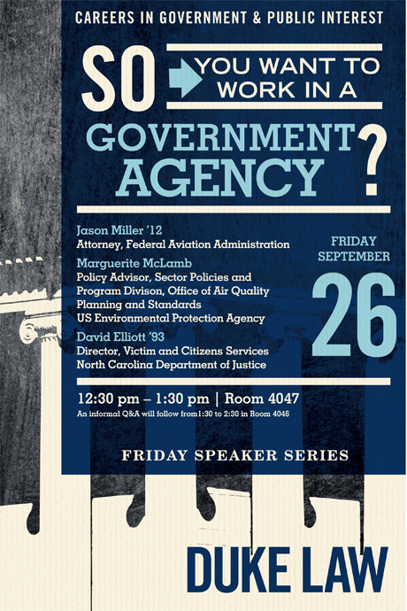 So you want to work in a government agency?