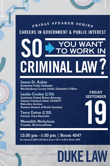 So you want to work in Criminal Law