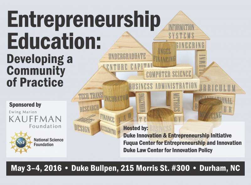 Entrepreneurship Education: Developing a Community of Practice