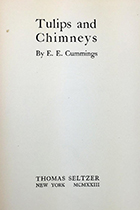 e.e. cummings, Tulips and Chimneys book cover
