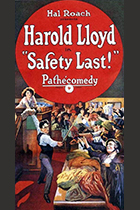 'Safety Last!,' directed by Fred C. Newmeyer and Sam Taylore, featuring Harold Lloyd movie poster