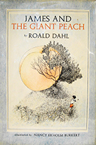James and the Giant Peach by Roald Dahl book cover
