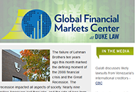 Quarterly Newsletter from the Global Financial Markets Center at Duke Law
