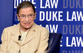 Supreme Court Justice Ruth Bader Ginsburg at Duke Law's 2013 reception for the D.C. Summer Institute on Law and Policy
