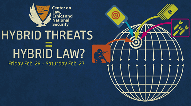 The 2016 LENS Conference poster, Hybrid Threats = Hybrid Law?