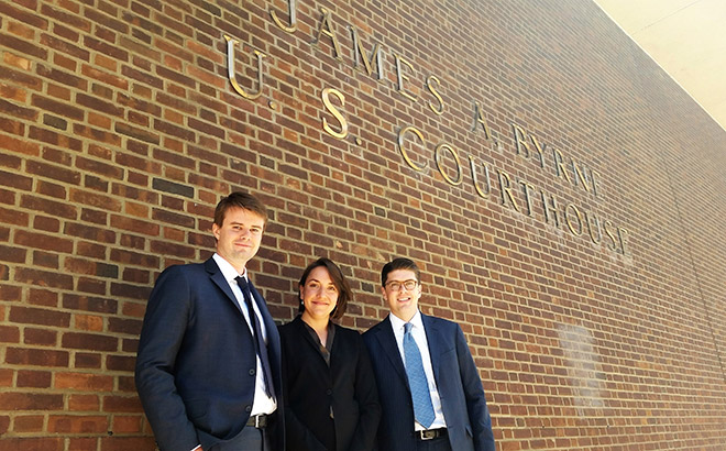 Students from the Appellate Litigation Clinic after winning case