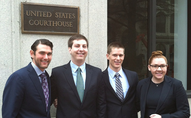 Students from the Appellate Litigation Clinic