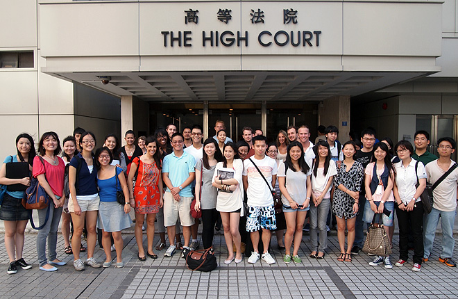 Students at the High Court