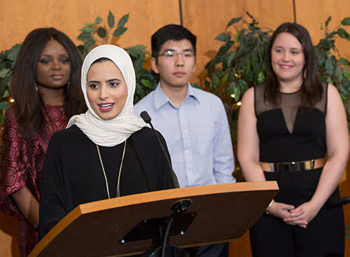 Duke Law's LLM students speaking at a Graduation ceremony