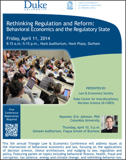 Fifth Annual Triangle Law & Economics Conference poster