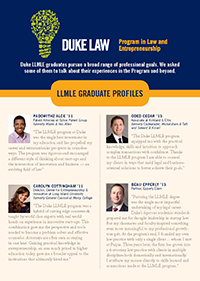 LLMLE Alumni profiles brochure cover