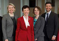 Lisa Cleary '83 and colleagues