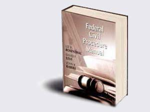 cover of manual, Federal Civil Procedure Manual.