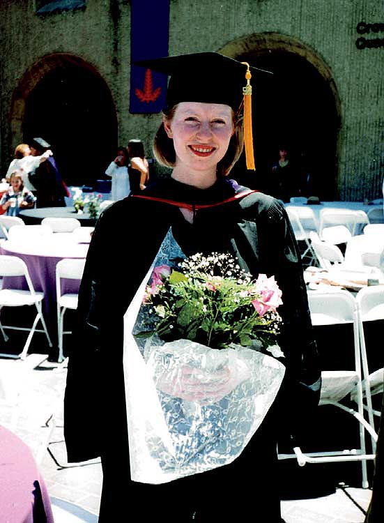 Kerry Abrams at her college graduation