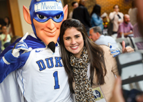 Blue devil with reunion guest