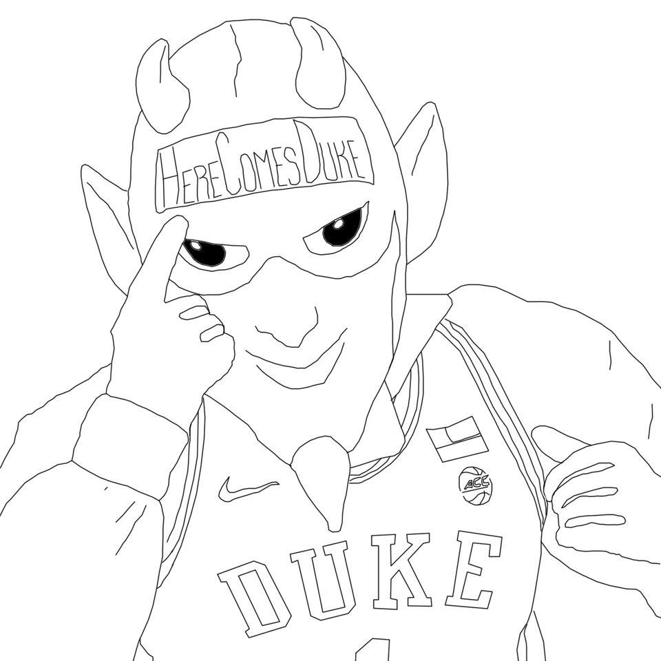 Color the Duke Blue Devil
