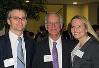 Peter Gilchrist at his retirement party, Matthew Rupp '01, Leslie Cooley '05