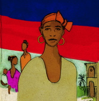 Illustration of women in Haiti