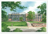 A sketch of the renovated Duke Law School 2008