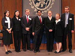 participants in the WTO Moot Court Competition