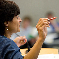Professor Dorianne Coleman teaching