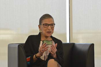 Supreme Court Justice Ruth Bader Ginsburg at Duke Law's 2015 reception for the D.C. Summer Institute on Law and Policy