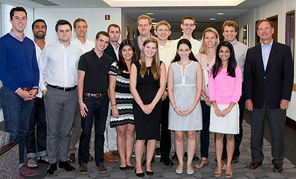 Justice Samuel A. Alito Jr. with his students in Current Issues in Constitutional Interpretation