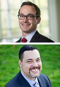 Professors Joseph Blocher (top) and Darrell Miller