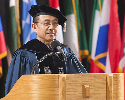 Xiqing Gao'86 at Duke Law's 2014 Hooding Ceremony