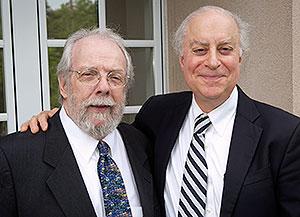 Prof. David Lange with Dean David F. Levi