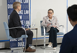 Prof. Neil Siegel and Justice Ruth Bader Ginsburg