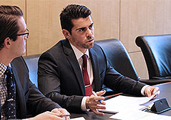 Duke Law students at the transactional law competition