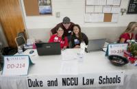 Duke Law student members of the Veterans Disability Assistance Project (VDAP) participate in the 2012 Bull City Stand Down.
