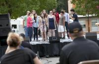 Duke Law's accapella group, Off the Record, performed at the event.