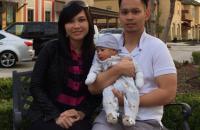 Bernard Kaligis, wife Valerie Roeroe and new baby Aaron Duke Kaligis