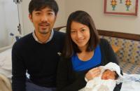 Shunsuke Minowa, wife Junko and baby Emma Kate Minowa