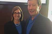 Congresswoman Martha McSally (R-AZ) and Maj Gen Dunlap at the Aspen Security Forum on July 25th. Cong. McSally, a former fighter pilot, and Gen. Dunlap have been friends for many years and both retired from the Air Force in 2010 to pursue new careers. They are wearing Air Force/Duke blue by pure happenstance!