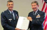 On August 29th, Professor (Major General, USAF (Ret.)) Dunlap conducted the retirement ceremony for Lt Col. Peter Oertel, the commander of Duke's Air Force ROTC Detachment. The ceremony took place on the University campus at Trent Hall.