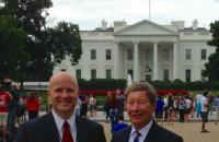 Col Bryan Watson, general counsel for the White House Military Office, and Professor Dunlap had lunch in the White House dining room on July 14th. Professor Dunlap and Colonel Watson served together at a number of assignments in the Air Force.