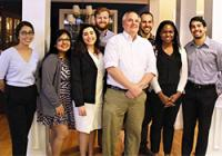 1GP students with Judge Todd Hughes '92 of the U.S. Court of Appeals for the Federal Circuit (fourth from right)