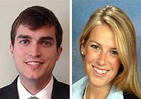 Children's Law Clinic alumni James Lambert '15 and Sarah Sheridan '15