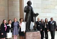2017-2018 Douglass Fellows with Kenneth Morris, a descendant of Frederick Douglass.